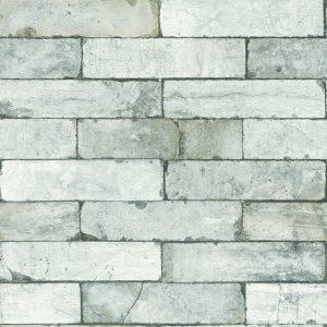 Papier peint brique gris