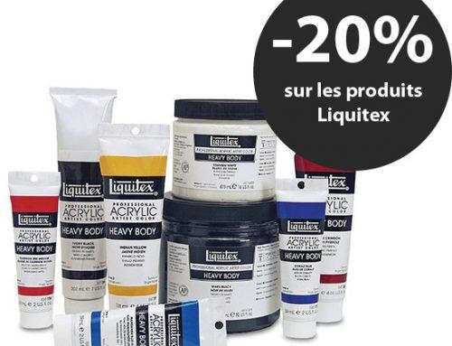 Promotion sur les produits Liquitex
